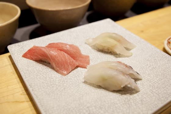 '미본가'의 스시는 초밥에 설탕을 넣지 않아 생선 고유의 단맛을 즐길 수 있다.