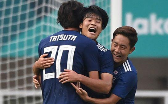 '2018 자카르타-팔렘방 아시안게임' 일본 남자축구 대표팀. [AFPBBNews=뉴스1]