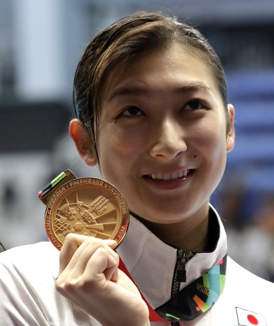 일본 수영 선수 이케에 리카코. [AP=연합뉴스]