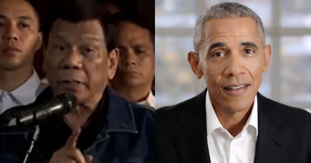 로드리고 두테르테 필리핀 대통령(왼쪽)과 버락 오바마 전 미국 대통령(오른쪽) [필스타 글로벌 홈페이지 캡처=연합뉴스, 중앙포토]