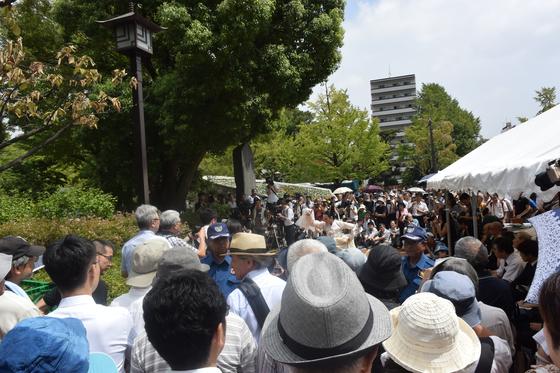 지난 1일 열린 간토대지진 조선인학살 추도집회. 예년보다 많은 700여명의 시민이 모였다. 윤설영 특파원
