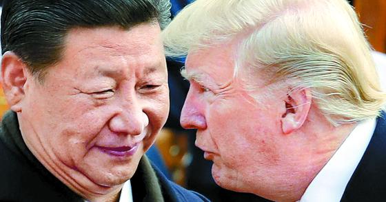 시진핑 중국 국가주석과 도널드 트럼프 미국 대통령 [AP=연합뉴스]