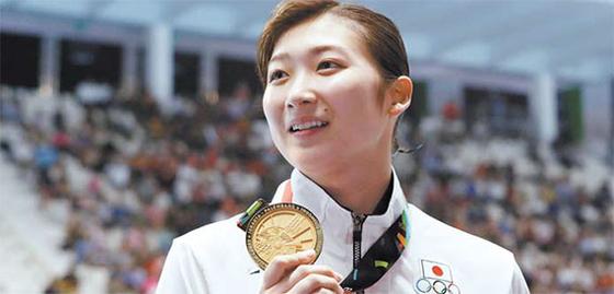 수영 6관왕에 오르며 아시안게임 최우수선수(MVP)에 선정된 일본의 이케에 리카코. [연합뉴스]