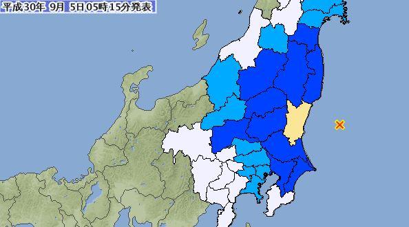 일본 도쿄 북동쪽 해역서 규모 5.6 지진