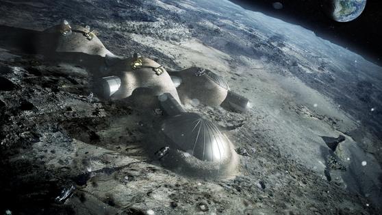 유럽우주국(ESA)이 건설게획을 발표한 달 기지 '문 빌리지' [사진 ESA]
