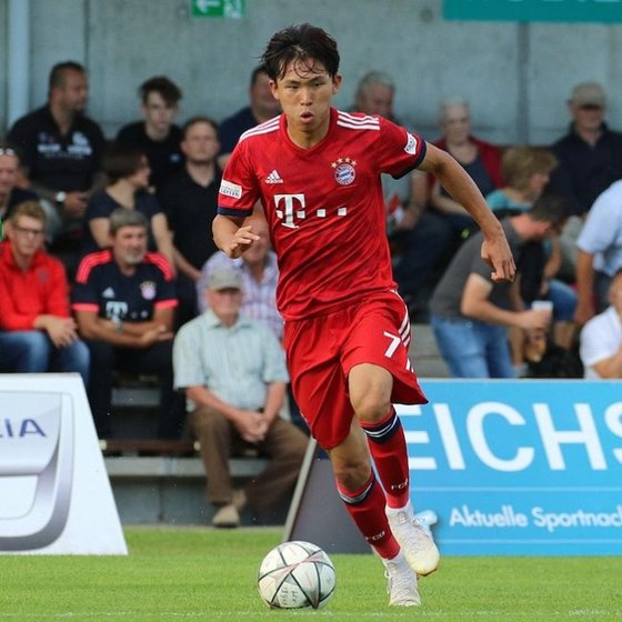 독일프로축구 명문 바이에른 정우영이 유럽 챔피언스리그 A리스트에 포함됐다. [바이에른 뮌헨]