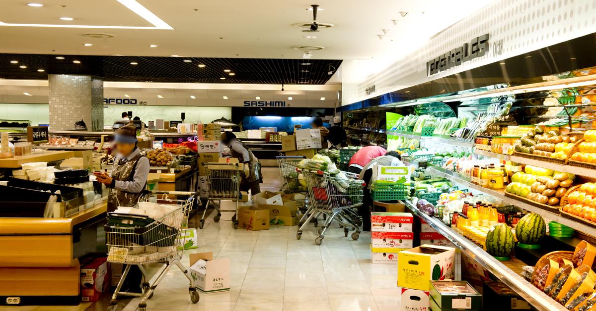 현대백화점 식품관 자료사진. [중앙포토]