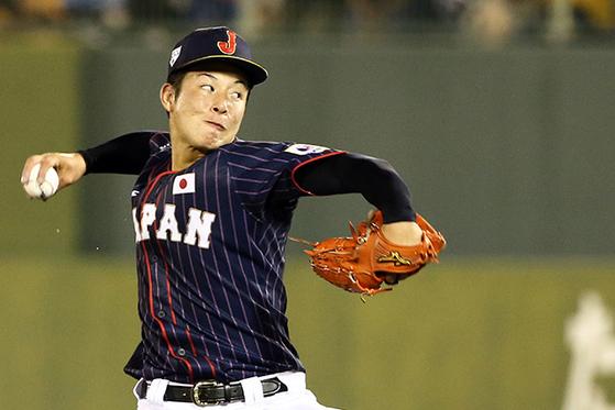 한국은 '고시엔의 영웅' 요시다를 넘어야 한다. 지난달 31일 미야자키현 선발팀과의 연습경기에서 역투하는 요시다. [사진 일본 야구국가대표 홈페이지]