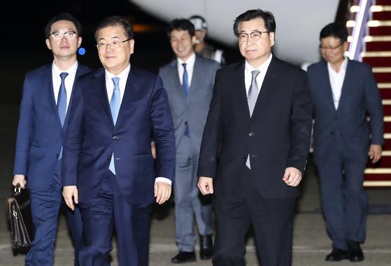 김정은 면담한 대북 특사단…11시간40분 평양 체류 뒤 한밤 귀환