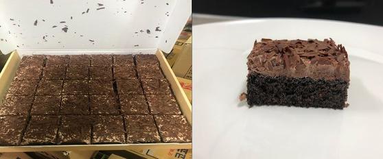 우리밀 초코블라썸 케이크. [사진 식약처]