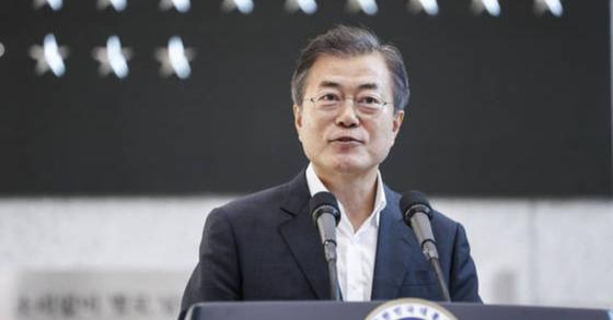 """文대통령 """"남북관계, 올해말까지 되돌릴수 없을 정도 진전내는게 목표"""""""