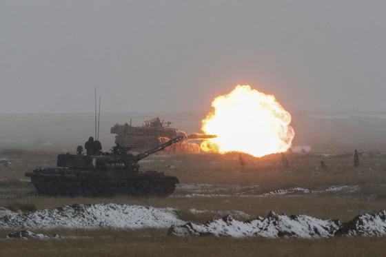 미 육군 전차 M1 에이브람스. [로이터=연합뉴스]
