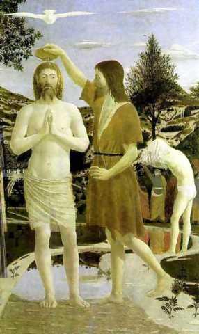 예수의 세례.(프란체스카, 1449년)