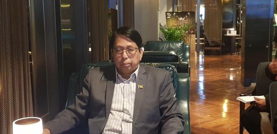 한국을 찾은 페민 미얀마 공보부 장관.