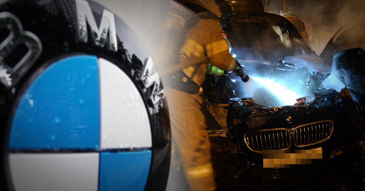달리던 BMW 520d 차량에서 경부고속도로 부산방면 오산IC 부근에서 불이 났다. (※이 사진은 기사 내용과 직접적인 관련이 없습니다) [연합뉴스]