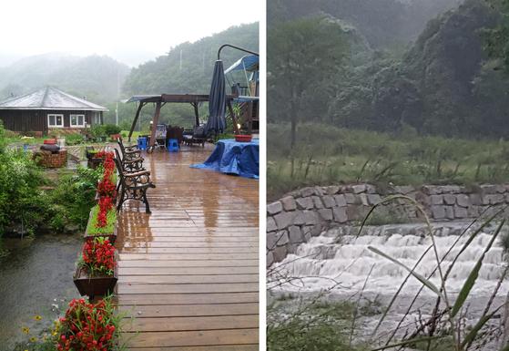 폭우가 쏟아지는 산막. [사진 권대욱]