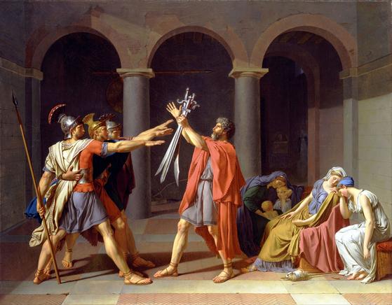 (호라티우스 형제의 맹세 1784) 자크 루이 다비드, 루브르 박물관(파리) ⓒpublic domain(공개도메인) [사진 위키피디아]