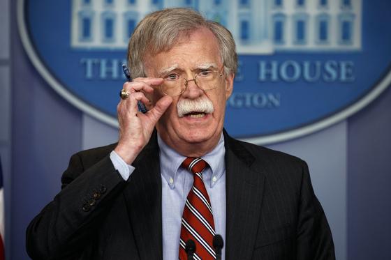 존 볼턴 미국 백악관 국가안보보좌관.