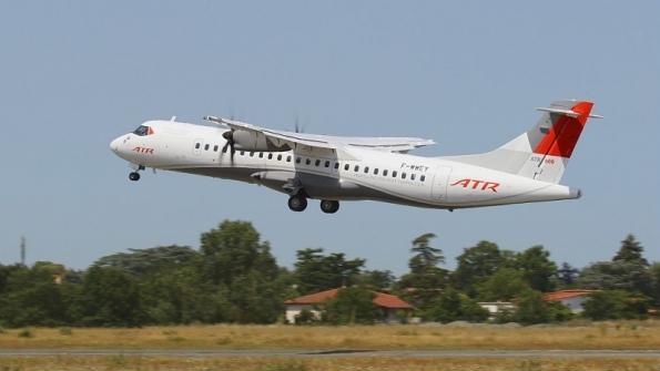 ATR42는 최대항속거리가 2000㎞ 가량으로 단거리용 항공기다. [중앙포토]