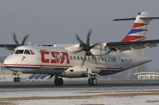 프로펠러를 사용하는 50인승 규모의 ATR42. [중앙포토]