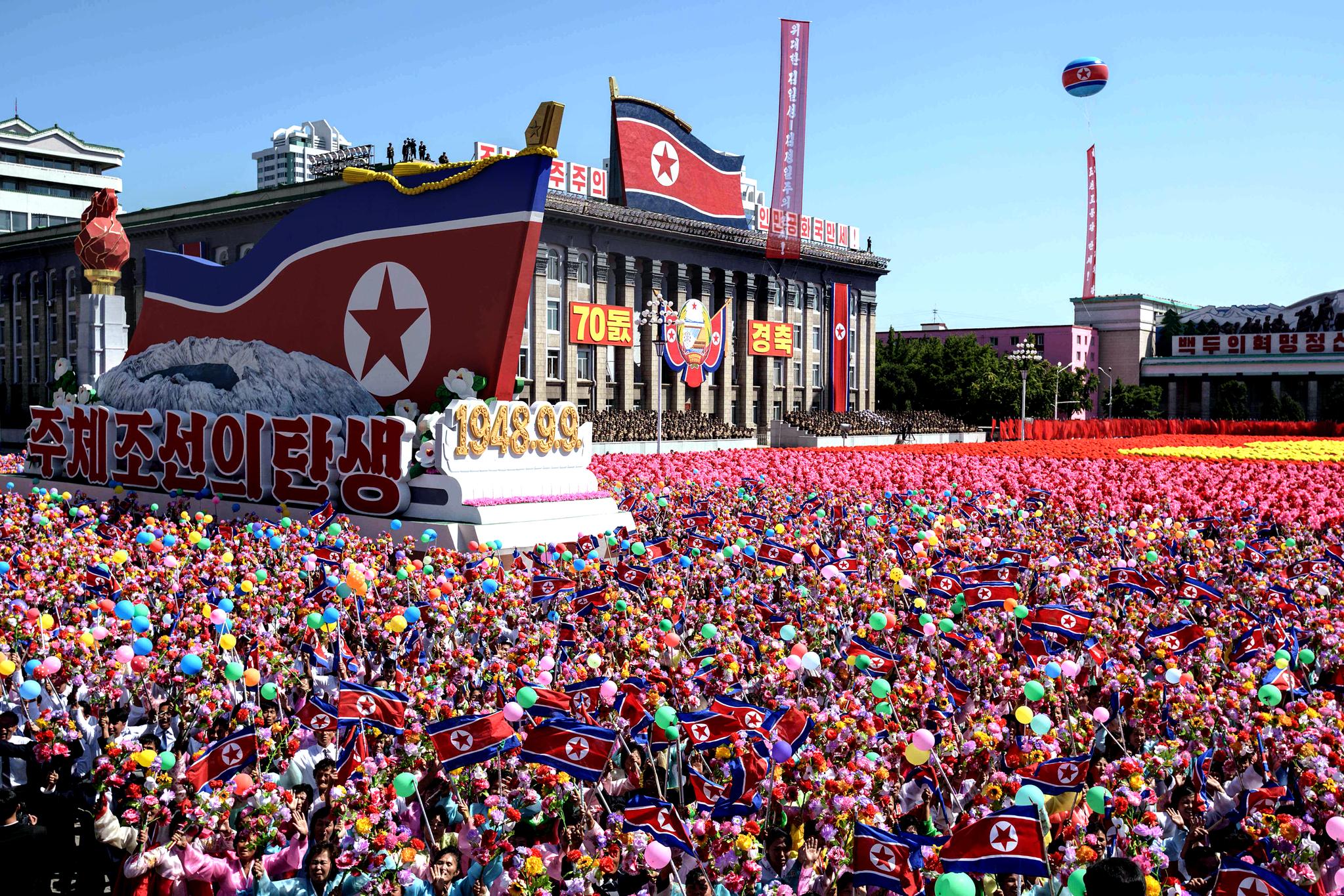 북한 정권수립 70주년 기념 열병식 [AFP=연합뉴스]