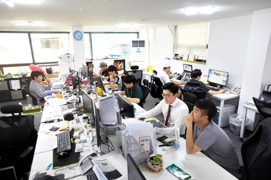 서울 강남구에 위치한 테이블매니저 사무실의 모습.