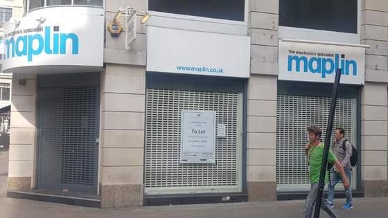 전자제품 판매점인 마플린의 런던 옥스퍼드스트리트 점포가 최근 문을 닫았다. [런던=김성탁 특파원]