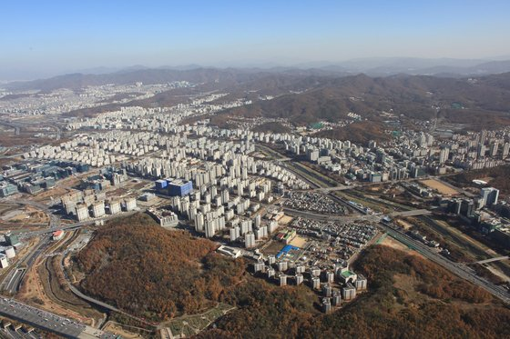 강남권 대체 주거지로 개발한 경기도 성남시 판교신도시.