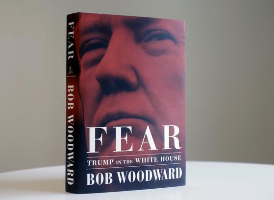 밥 우드워드 워싱턴포스트 부편집인의 신간 『공포:백악관 안의 트럼프』.[AP=연합]