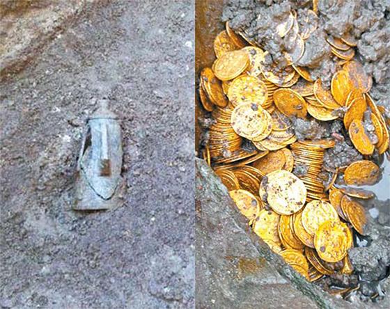 극장 철거하다 고대 로마 금화 수백개 발견