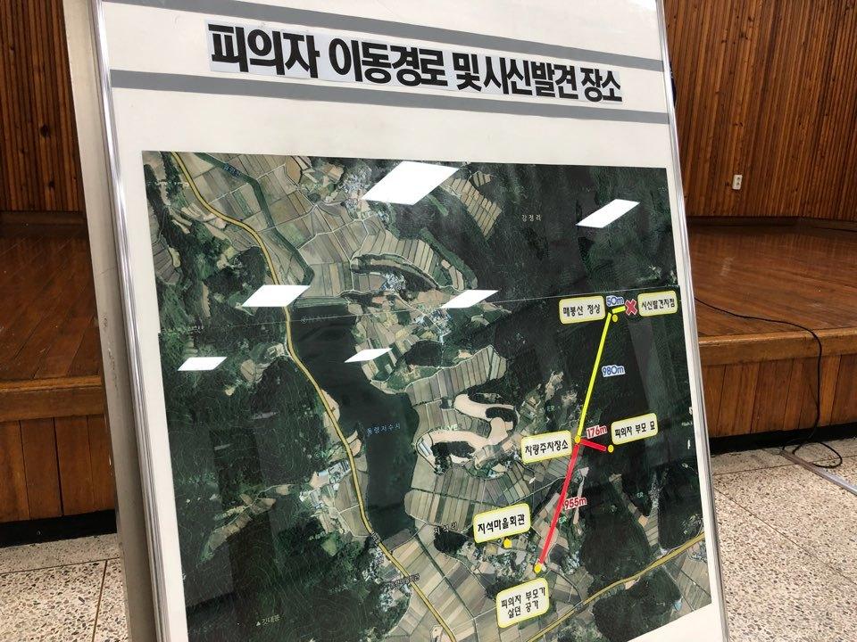 전남 강진 여고생 사망 사건 피의자 이동 경로 및 시신 발견 장소. 김호 기자
