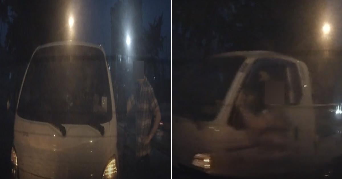 사고 피해 운전자가 공개한 사고 당시 모습 [사고 피해 운전자가 올린 블랙박스 영상 캡처=연합뉴스]