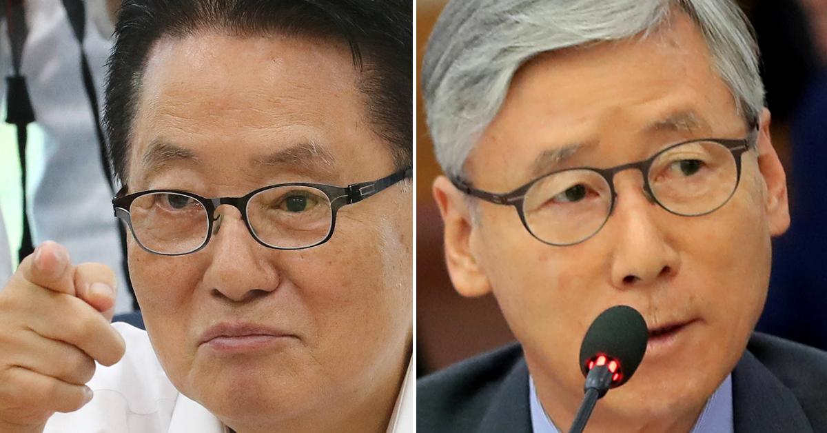 박지원 민주평화당 의원(왼쪽 사진)과 여상규 자유한국당 의원. [연합뉴스]