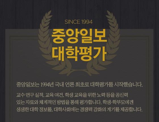 2017 중앙일보 대학평가 배너
