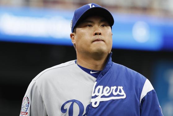 LA 다저스 류현진이 12일 신시내티와의 원정경기에서 5이닝 3실점에 그치며 승리투수가 되지 못했다. 신시내티=AP 연합뉴스
