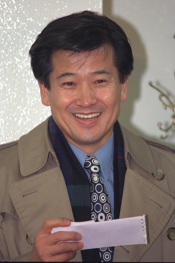 1996년 국민회의 입당 당시 정동영 모습 [중앙포토]