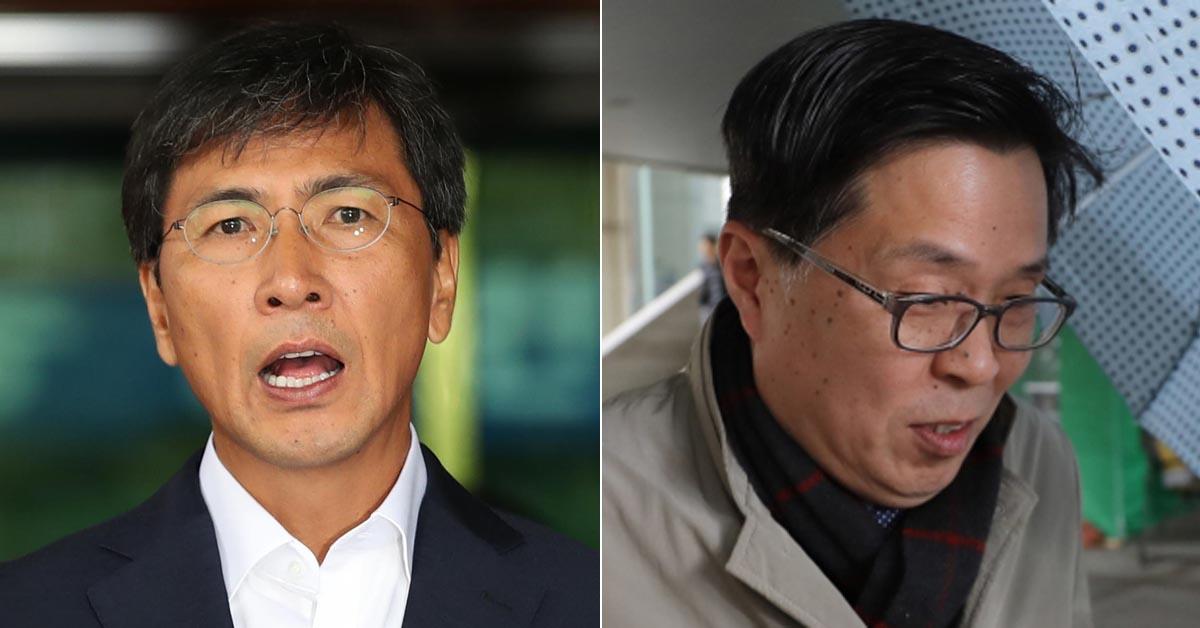 안희정 전 충남지사(왼쪽)과 김문환 전 에티오피아 대사(오른쪽) [연합뉴스, 뉴스1]