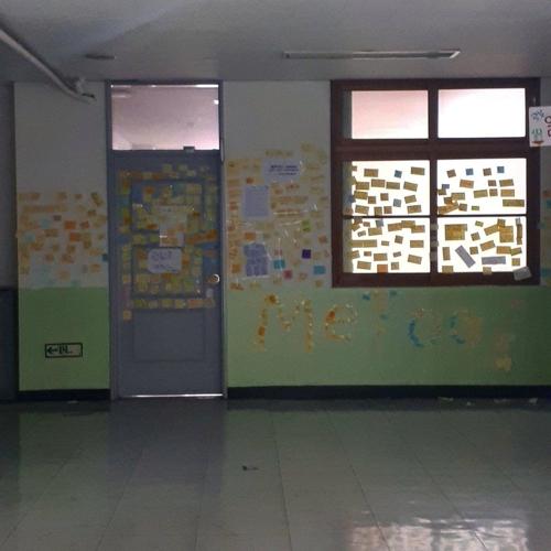 서울 광진구 A 중학교에 붙은 스쿨 미투 포스트잇. [연합뉴스]
