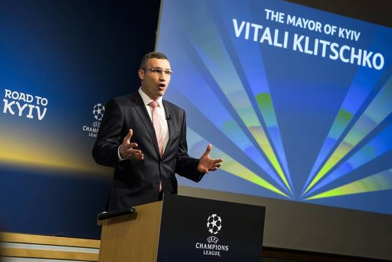 2017-18 UEFA 챔피언스리그 조추첨식에 참석한 비탈리 클리츠코. [EPA=연합뉴스]