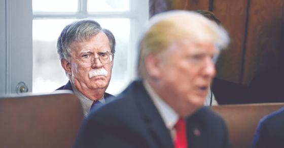 존 볼턴 미국 백악관 국가안보회의 보좌관과 도널드 트럼프 미국 대통령. [중앙포토]
