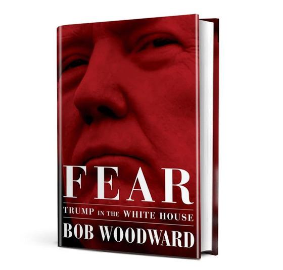 11일 미 전역에서 출간된 밥 우드워드의 신간『공포: 백악관의 트럼프』.