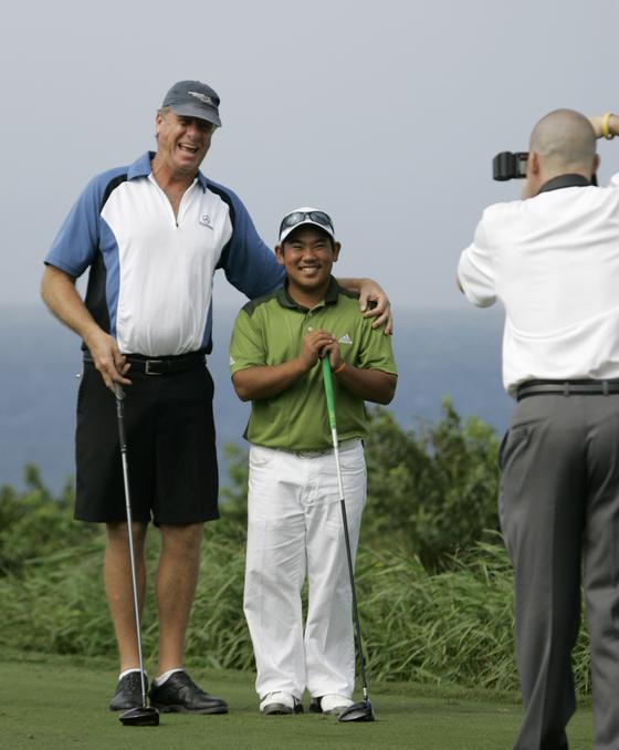 2008년 16세로 PGA 투어에 참가한 태 후지카와. [AP]