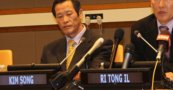 공석이던 유엔 주재 북한대표부 대사에 김성을 임명했다. [연합뉴스]
