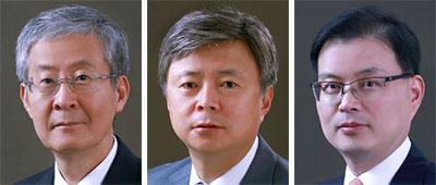 윤용섭, 강석훈, 윤희웅(왼쪽부터).