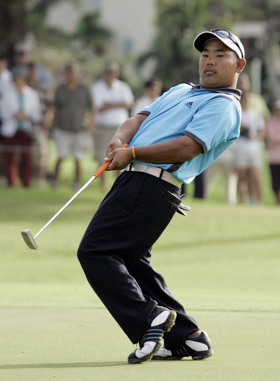 2008년 소니오픈에 참가한 태드 후지카와. [AP]