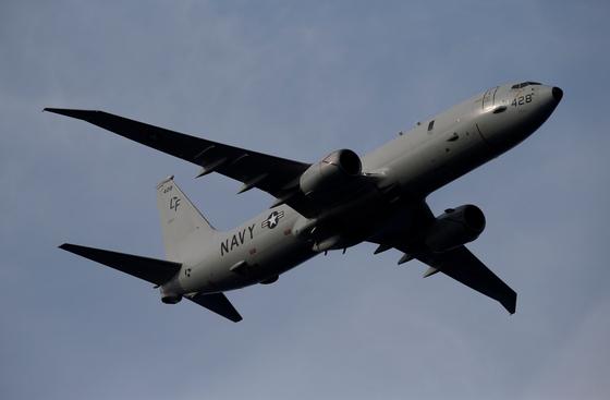 미 해군이 운용 중인 해상초계기 P-8A 포세이돈.[로이터=연합뉴스]