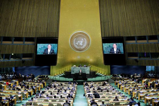 지난해 유엔총회에서 이용호 북한 외무상이 일반토의 연설자로 나섰다. [로이터=연합뉴스]