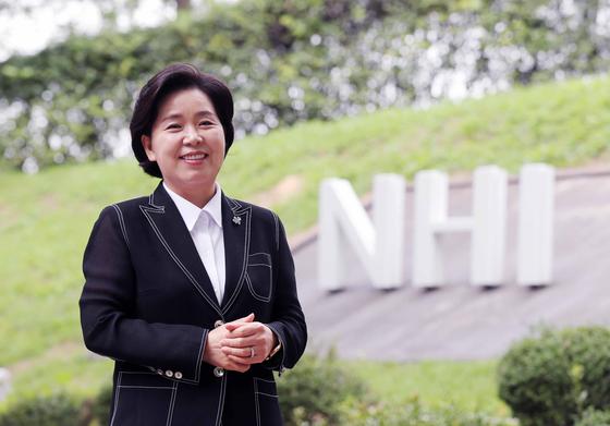 양향자 국가공무원 인재개발원장. 양 원장은 삼성전자 최초의 고졸 출신 여성 임원을 지낸 입지전적인 인물이다. 김상선 기자