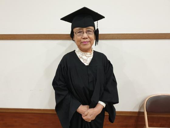 대구내일학교 5회 중등과정 졸업생인 한수화(79) 할머니. 백경서 기자