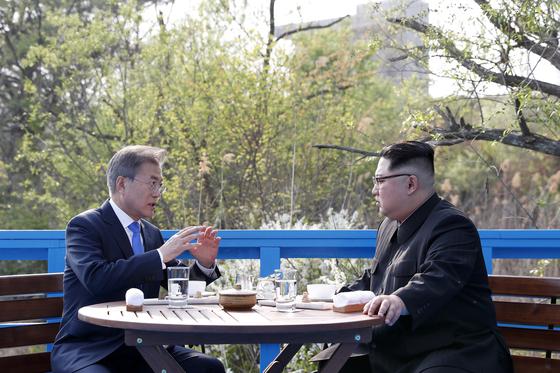 남북 정상회담 모습. [연합뉴스]